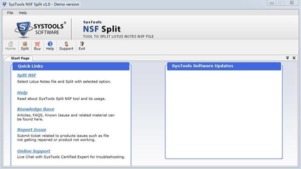 SysTools NSF Split截图1