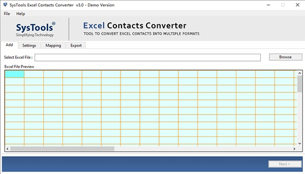 SysTools Excel Contacts Converter截图1