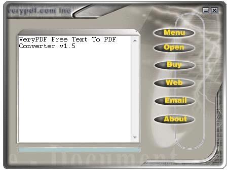VeryPDF Text to PDF Converter截图1