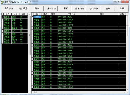 考勤分析软件