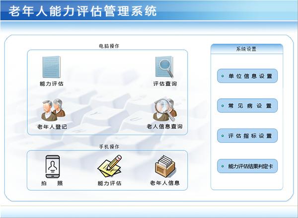 老年人能力评估管理系统截图