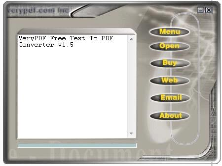 VeryPDF Free Text to PDF Converter截图1