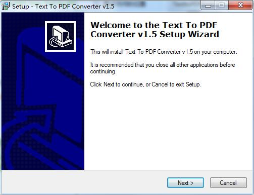 VeryPDF Free Text to PDF Converter截图