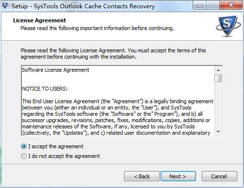 SysTools Outlook Cache Contacts Recovery截图