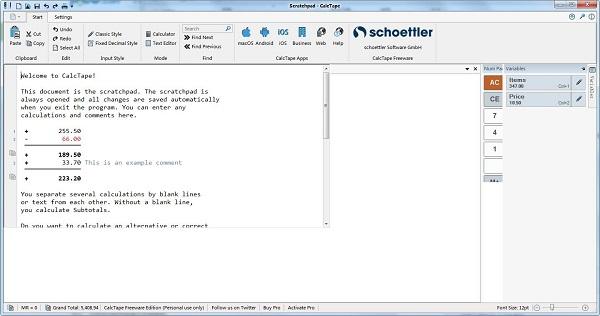 Schoettler CalcTape截图1