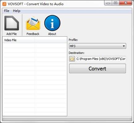 Vovsoft Convert Video to Audio截图1