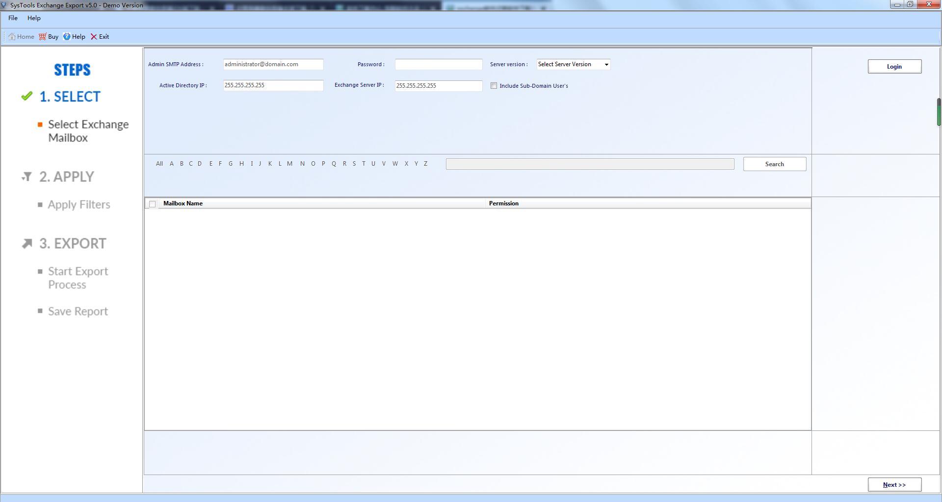 SysTools Exchange Export截图1
