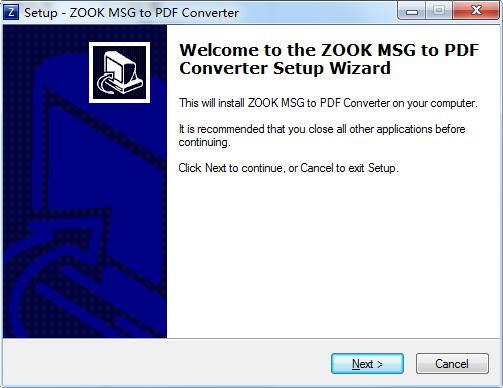 ZOOK MSG to PDF Converter截图