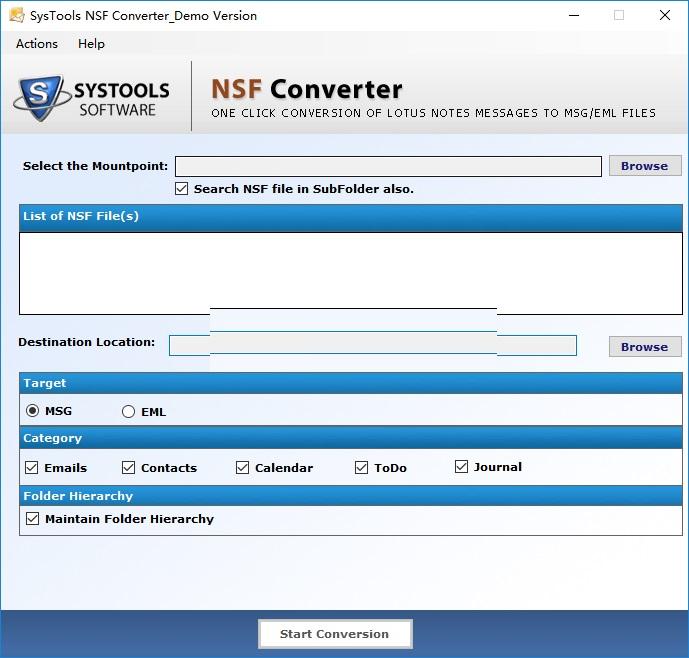 SysTools NSF Converter截图1