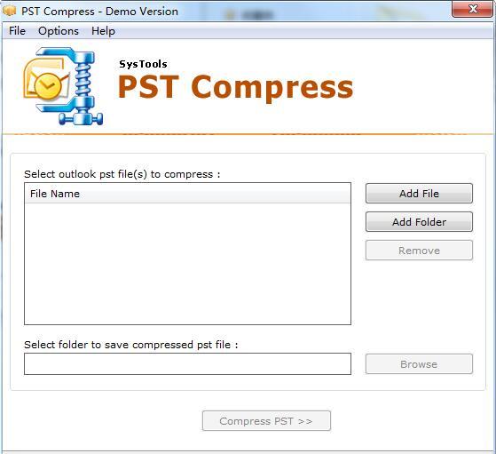 SysTools PST Compress