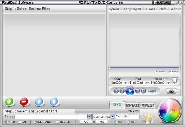 RZ Flv To DVD Converter截图