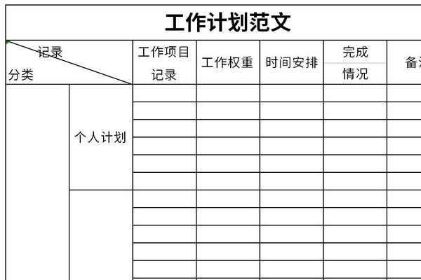工作计划范文截图1