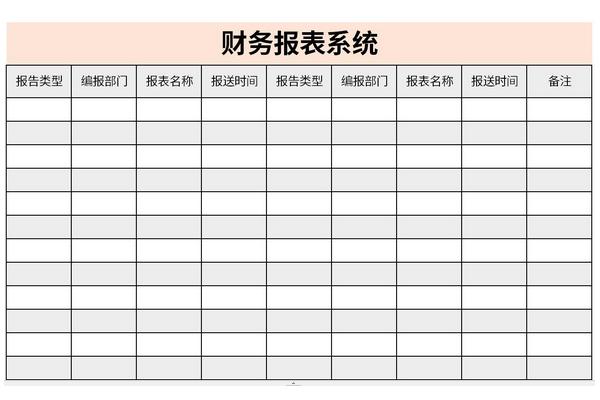 财务报表系统截图