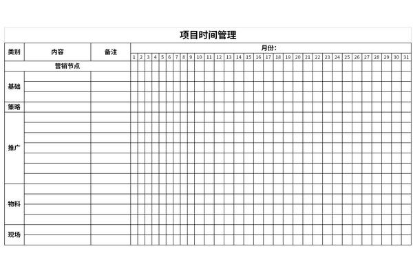 项目时间管理截图1