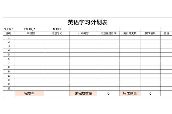 英语学习计划表截图1