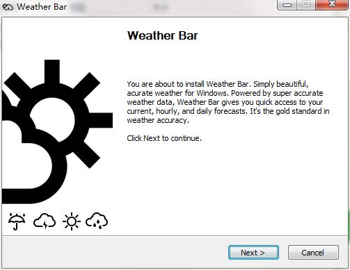 Weather Bar截图