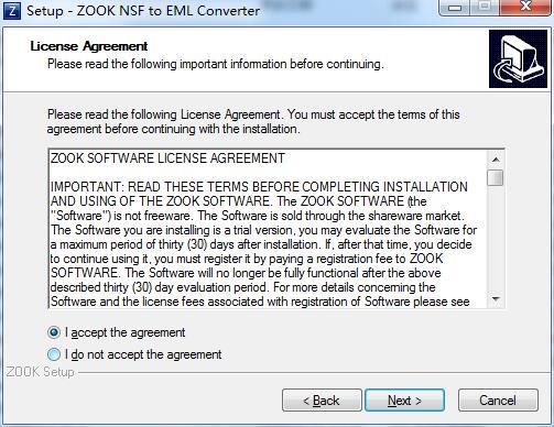 ZOOK NSF to EML Converter截图