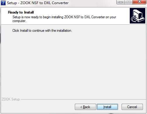 ZOOK NSF to DXL Converter截图