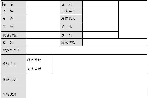 考研复试简历模板截图