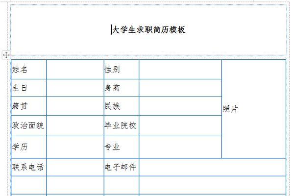 大学生求职简历模板截图1