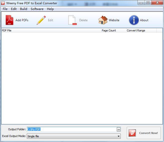 Weeny Free PDF to Excel Converter截图