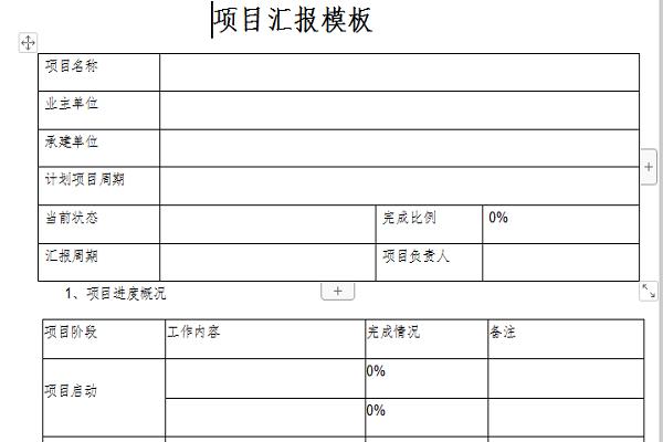 项目汇报模板截图1