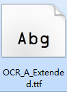 ocr a extended字体截图
