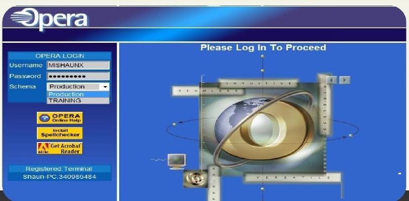opera酒店管理系统截图
