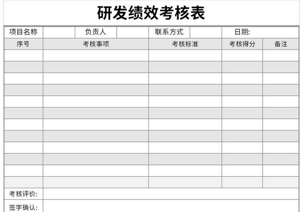 研发绩效考核表截图1
