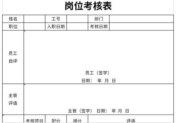 岗位考核表截图1