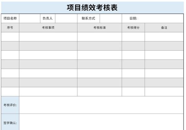 项目绩效考核表截图1