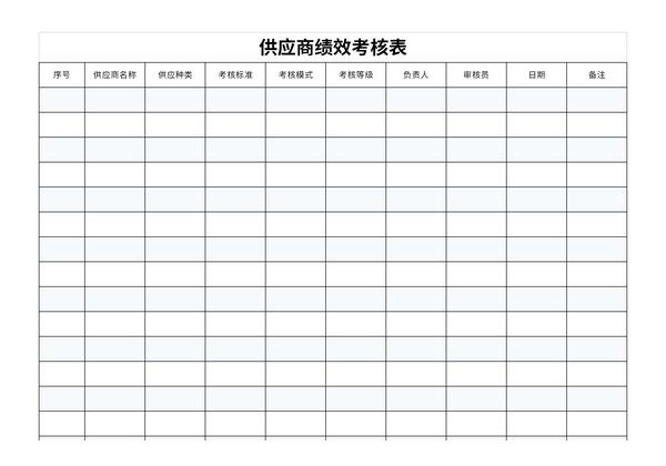 供应商绩效考核表截图1