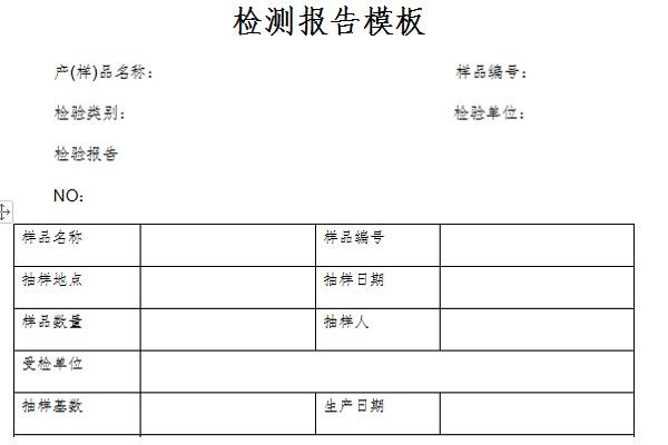 检测报告模板截图1