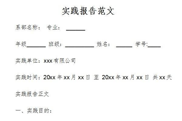 实践报告范文截图1