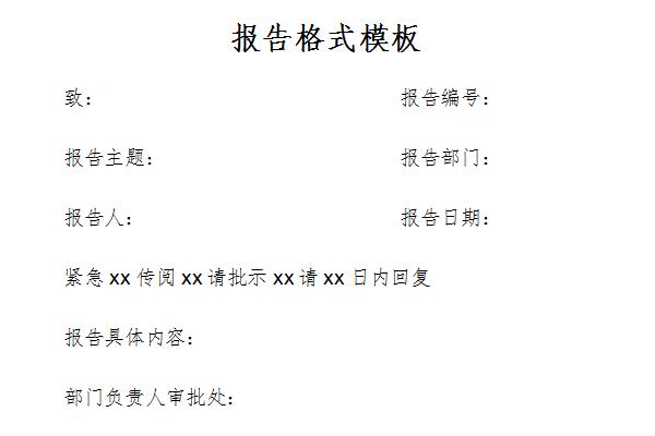 报告格式模板截图1
