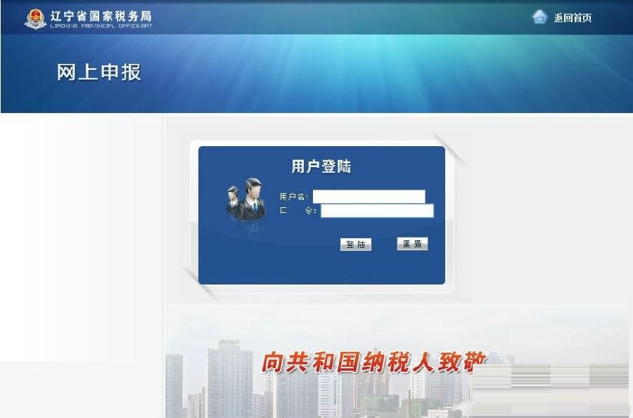 辽宁国税网上申报系统截图