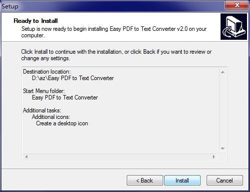Easy PDF to Text Converter截图