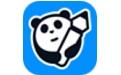 熊猫绘画段首LOGO