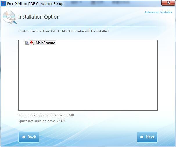 Free XML to PDF Converter截图