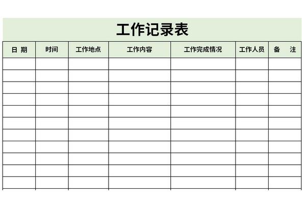 工作记录表
