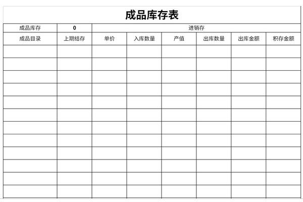 成品库存表截图1