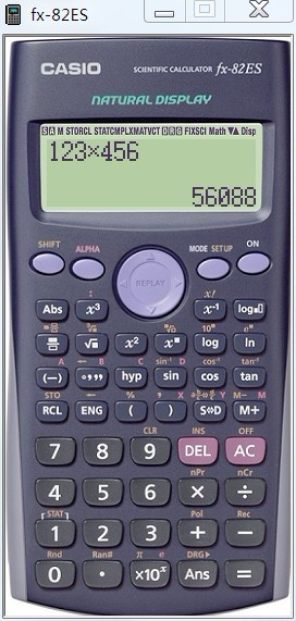 卡西欧科学计算器截图