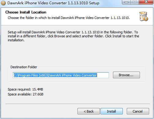 DawnArk iPhone Video Converter截图