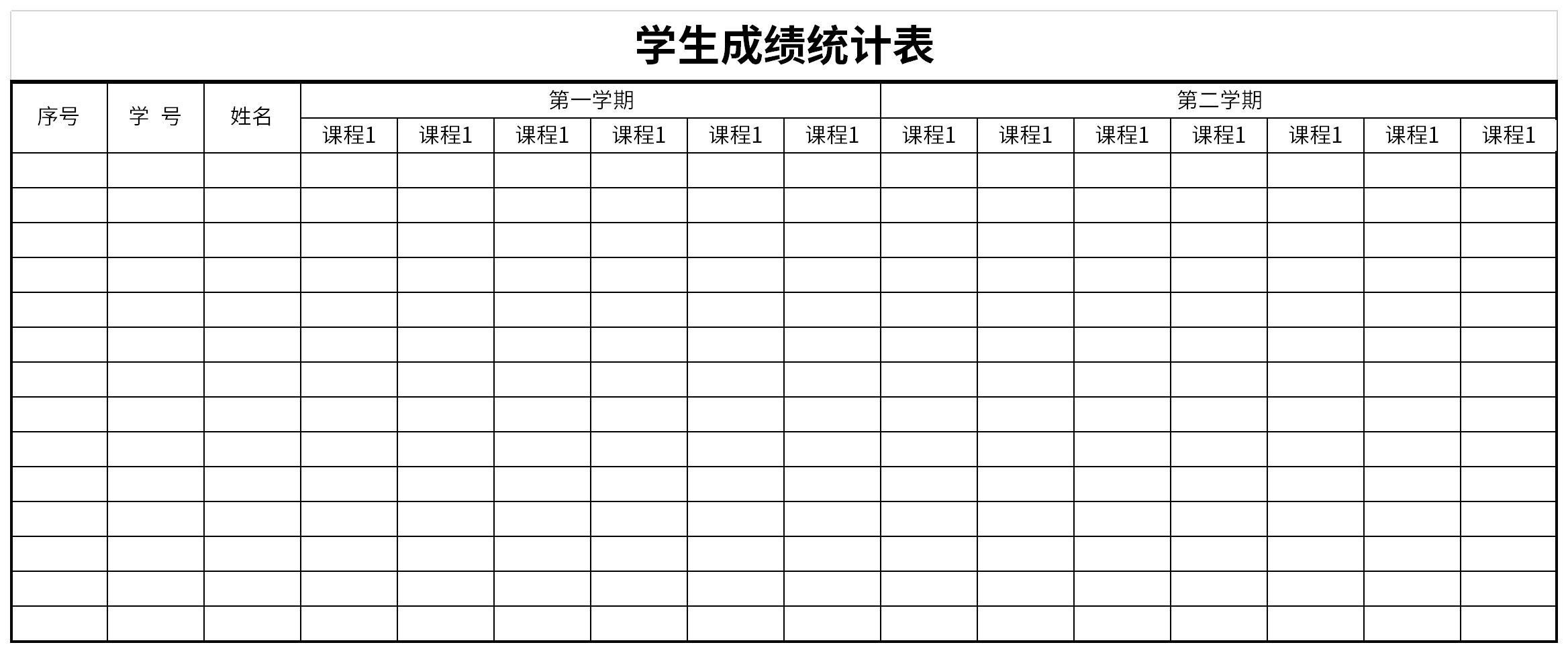 2021学生成绩统计表截图