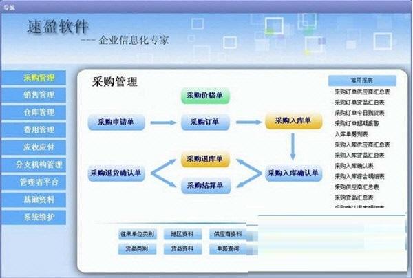 速盈供应链管理系统截图