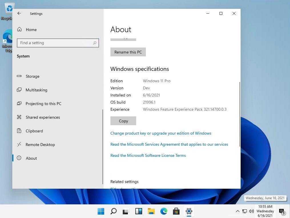 Windows11 预览版镜像截图
