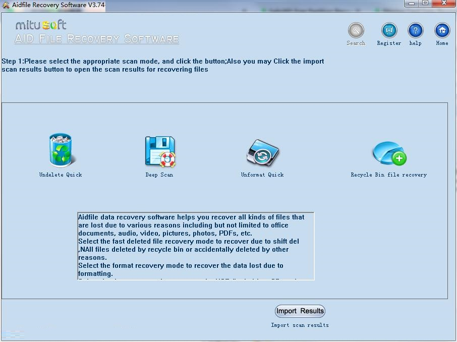 Aidfile Recovery Software截图