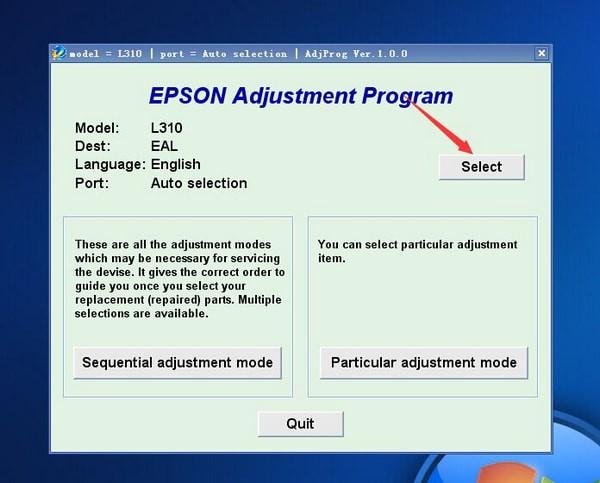 爱普生L565清零软件截图