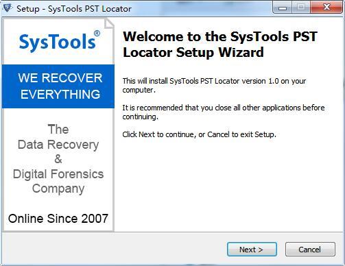 SysTools PST Locator截图
