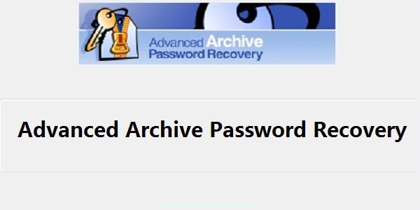 Advanced Archive Password Recovery截图